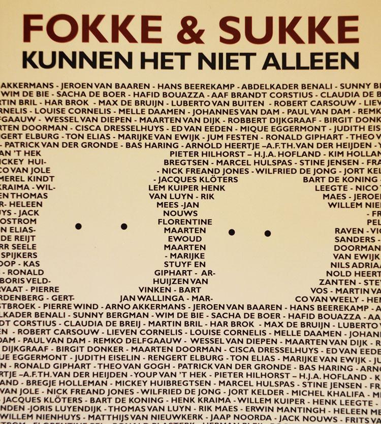Fokke & Sukke kunnen het niet alleen verscheen ter gelegenheid van 15 jaar Fokke & Sukke en bevat een verhaal van Ronald Giphart