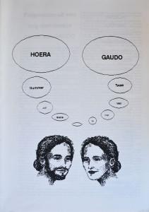 Ronald Giphart bracht onder het pseudoniem Gaudo het tijdschrift Hoera Gaudo uit in juli 1990