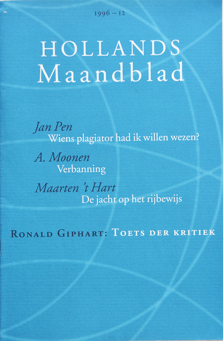 Ronald Giphart Hollands maandblad 1996 - 12 december Toets der kritiek