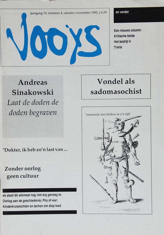 Vooys tijdschriften bevatten artikelen die door Ronald Giphart geschreven zijn.
