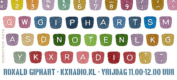 Vanaf 9 oktober 2015 hoor je Ronald Giphart elke vrijdag tussen 11 en 12 op KX Radio!