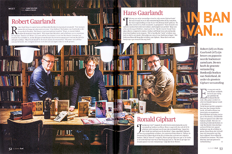 Juist Elsevier, interview, Robert en Hans Gaarlandt, Ronald Giphart, Ferdinand Bordewijk